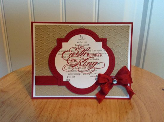 Stampin Up Christmas card - let earth receive her king 2. $3.50, via Etsy.