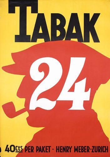 Vintage Swiss Tobacco Poster 1920s