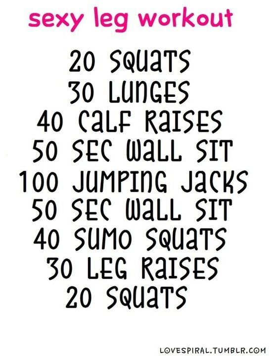 Exercise Legs - got to try this -  If you make healthy choices, you will stop craving junk