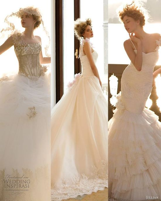 Our top 3 picks from Jillian 2013 Sterlizia Bridal Collection featured at weddinginspirasi....