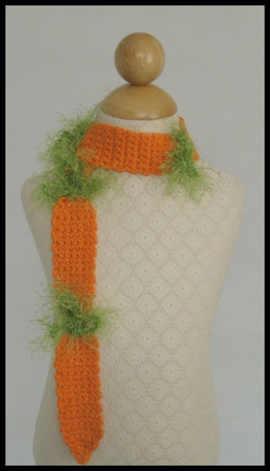 carrot scarf pattern