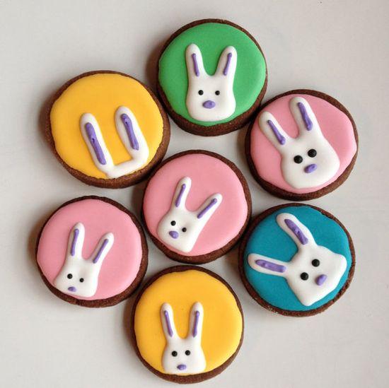 Peeking bunny cookies.