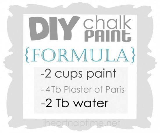 Learn how to make chalk paint on iheartnaptime.com #DIY #crafts