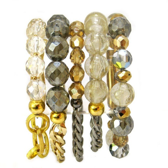 #Gold and Silver Jewelry  #Classic Bracelets  #Stackables #aquaskye, $129.00