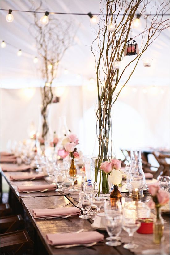 rustic reception decor ideas from Bash Collective