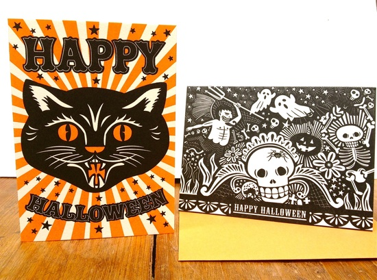 We're giving away some Halloween cards over here.