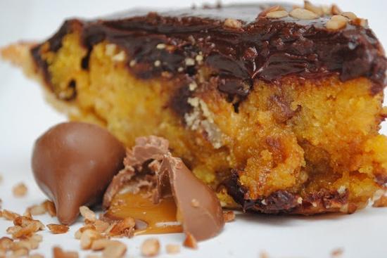 Pumpkin Chocolate Chip Cookie Chess Pie