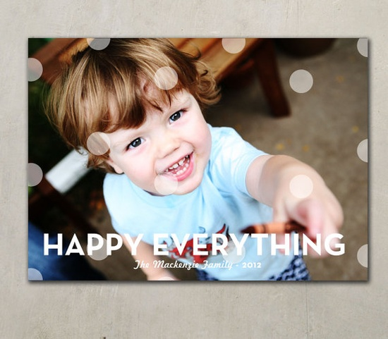 POLKADOLIDAY   Holiday Photo Card by PinkHippoPrints on Etsy, $19.00