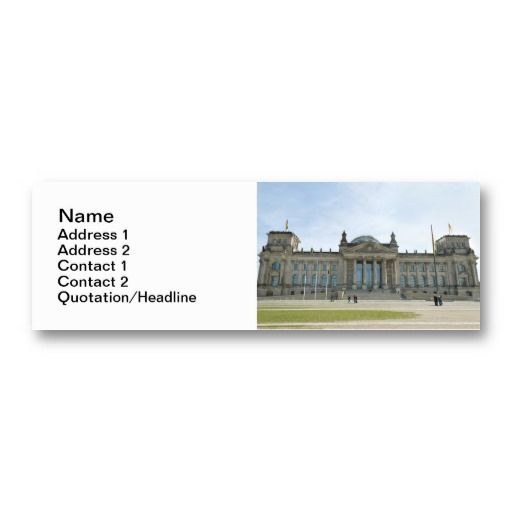#Reichstag #building in #Berlin #Business #Card