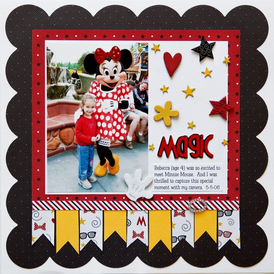 #disney #scrapbook #layout