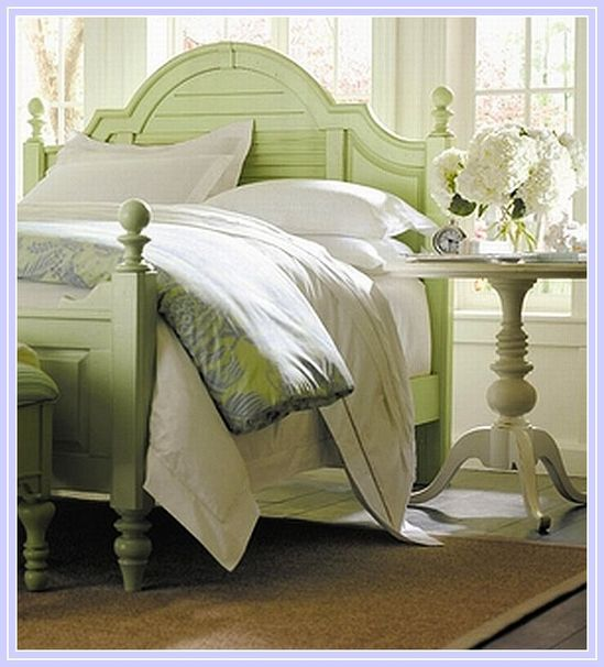 Soft green painted furniture