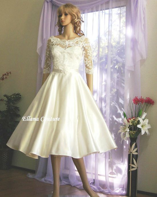 Julia  Vintage Inspired Wedding Dress Retro Style by EllanaCouture, $595.00