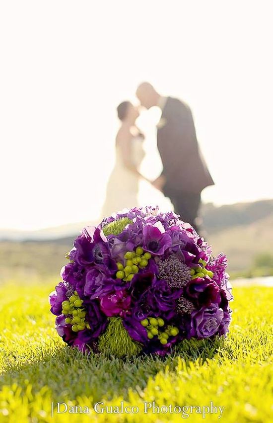 A way to make the flowers special with the couple in the background.  ? this.