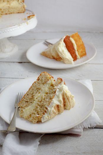 Milk Tart Layer Cake #Recipe #Cake #BakedGoods