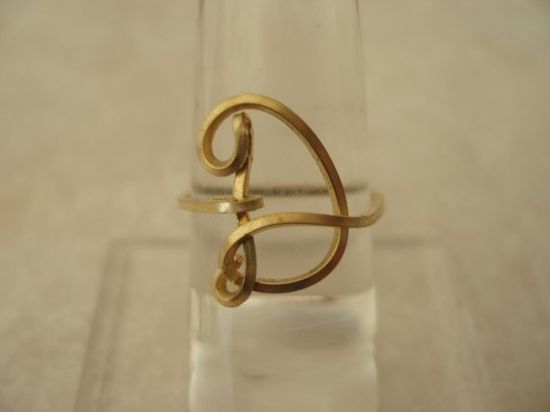 Initial Wire Ring Letter D. $22.00, via Etsy.