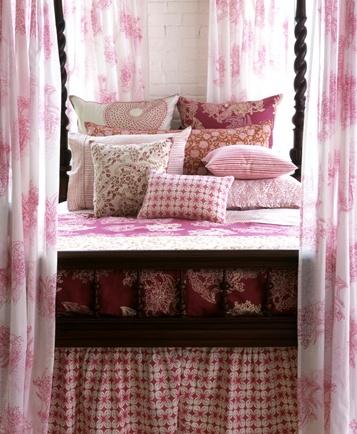 wonderful mix of pink patterns