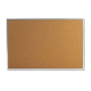 Amazon.com: Universal 48 x 36 in. Natural Cork Bulletin Board with Aluminum Frame $37