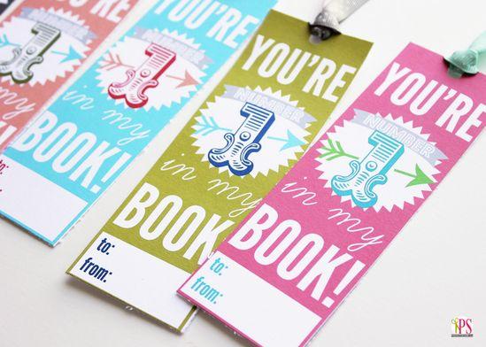 Printable Valentine Bookmarks www.PositivelySpl...