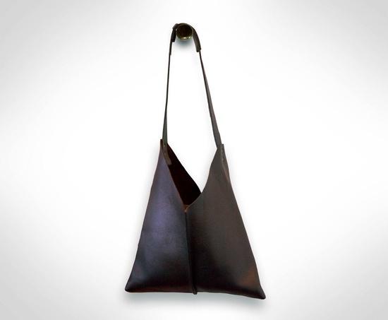 Black Leather Satchel Handbag by J.O.D. €85,00, via Etsy.