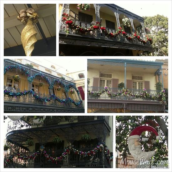 Christmas Decor in New Orleans Square BEAUTIFUL