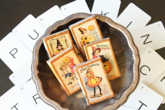 vintage halloween postcard matchboxes