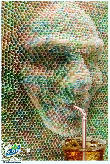 Very funny yet creepy! #straw #funnypictures