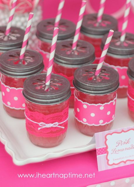Pretty mason jar cup tutorial on iheartnaptime.net #pink #parties