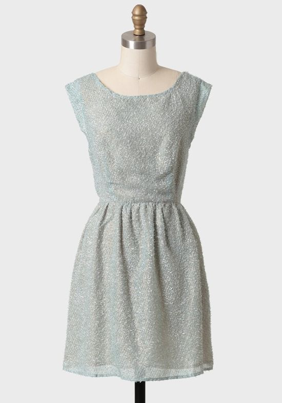 Mint Perfection Textured Dress in Greyed Jade from Ruche