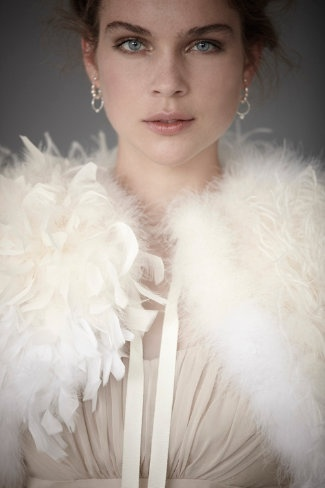 BHLDN Ostrich Feather Bolero, $1,100.00 #BHLDN #feather #bolero #fashion