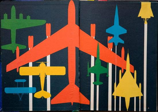 fly away ! // endpapers from Man's Reach into Space, 1959/1964