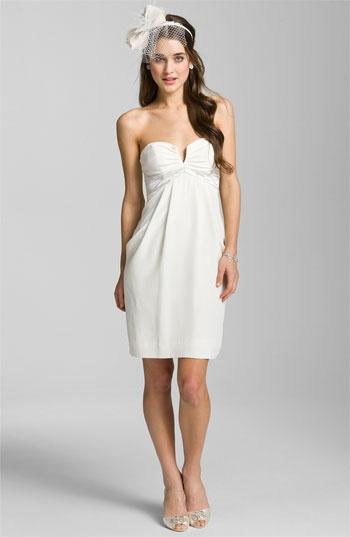 Nicole Miller Sweetheart Neckline Draped Silk Dress