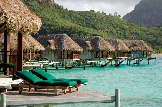 Ocean bungalows at Sofitel Bora Bora private island – you know you want to! #travel #paradise