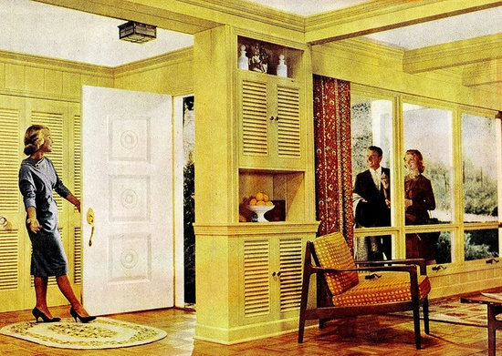 Better Homes & Gardens October 1960. Coffered ceiling!