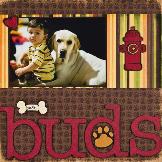 Dog Scrapbook Page