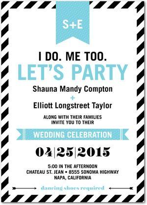Striped Affair Invitations