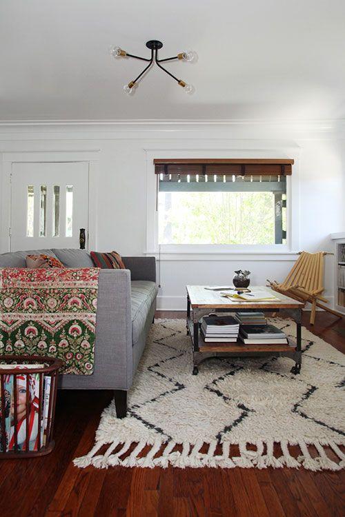 Dunham Sofa + Souk Rug from west elm via @Design*Sponge