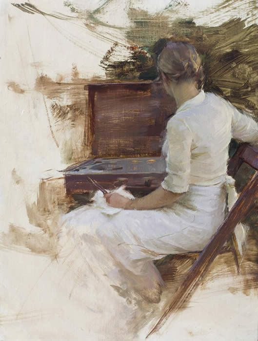 Katie Painting   14 x 11 inches by Jeremy Lipking