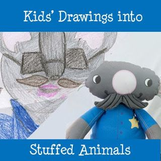Turning some Kids' Drawings into Stuffed Animals -  Angie Jones Illustration