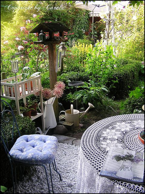Garden sanctuary by Boxwoodcottage, via Flickr