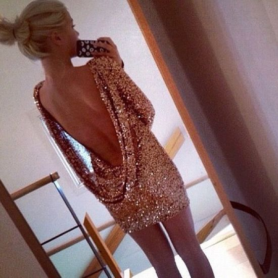 backless dress. new years!
