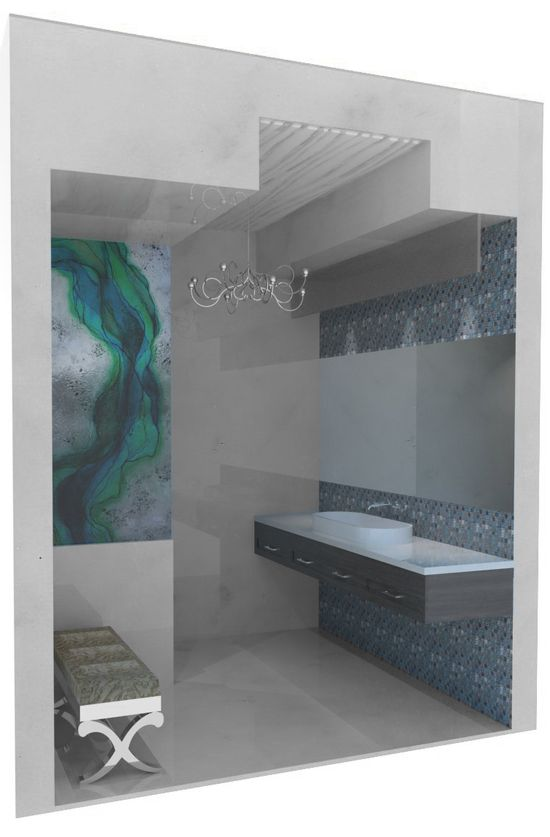 The bathroom designed by Ambience!