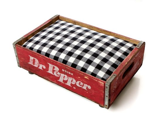 Dr. Pepper Luxury Vintage Pet Bed for Small Dogs & Cats