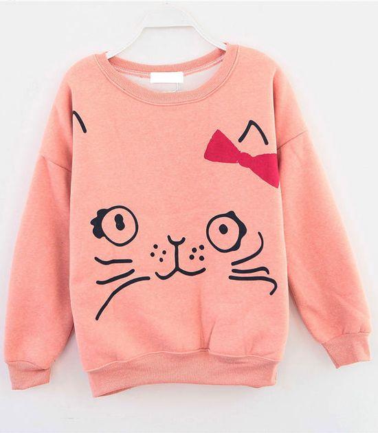 Cute cat sweater
