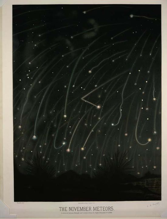 """""""The November Meteors"""" ~ Trouvelot"""