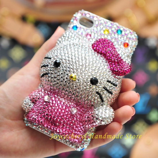 Crystal Hello Kitty! iPhone case.