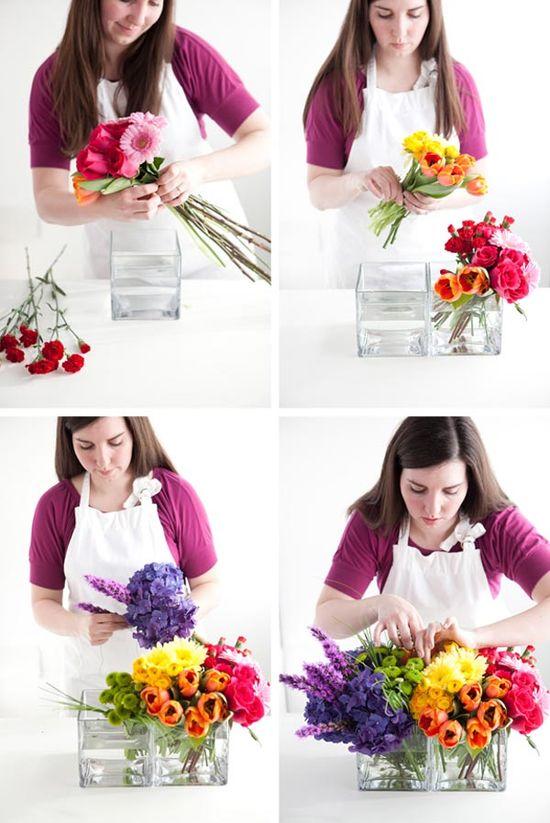 DIY Flower Arrangement www.bumpsmitten.c...