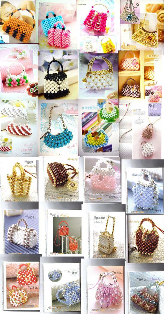 beaded miniature purses - diagrams