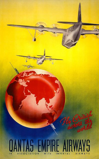 1938 ad for Qantas Airlines