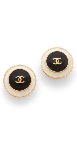 vintage Chanel studs