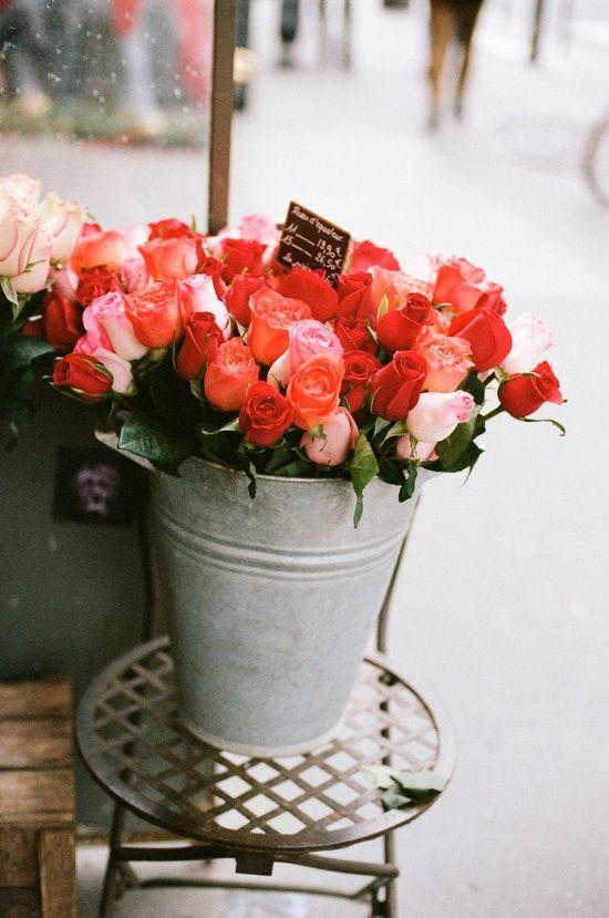 Roses in Parisian market